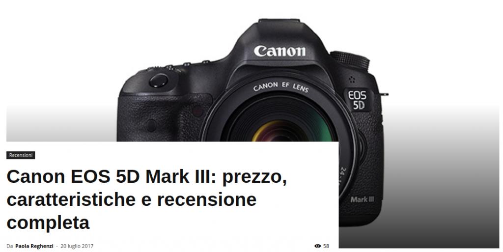 recensione Canon EOS 5D Mark III